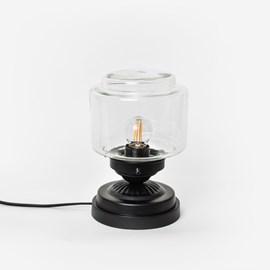 Niedrige Tischlampe Stepped Cylinder Small Klar Moonlight