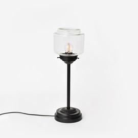 Schlanke Tischlampe Stepped Cylinder Small Klar Moonlight