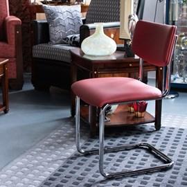 Chromrohr Stuhl Basic ohne Armlehnen