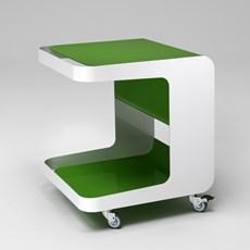 Retro Rollcontainer auf Rädern Grün