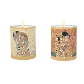 Satz mit 2 Kerzen Klimt