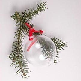 Weihnachten! Klare Glaskugel