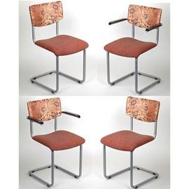 Set mit 4 Stühle Edelstahl Lalique