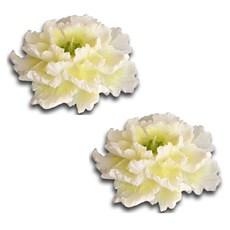 Set mit 2 Kerzen Weiße Pfingstrose