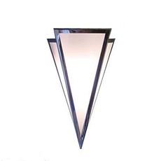 Wandleuchte Mittelpunkt in glänzendem Nickel mit Opalglas