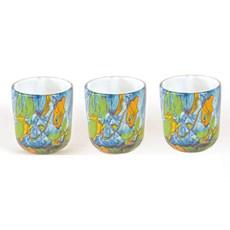 Set 3 Glas Teelichten Dynamic