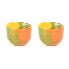 Set von 2 Kerzenhalters aus Glas Autumn