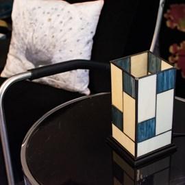 Tiffany Tisch Laterne Mondriaan