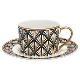 Art Deco Tasse und Untertasse Gatsby