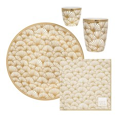 Geschenk-Geschirr-Set Golden Ginkgo
