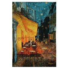 Wandteppich Café Terrasse bei Nacht | Vincent van Gogh
