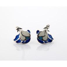 Ohrringe Ivalyn Blau und Weiß