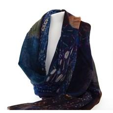 Schal Klimt 'Frau im Blau'
