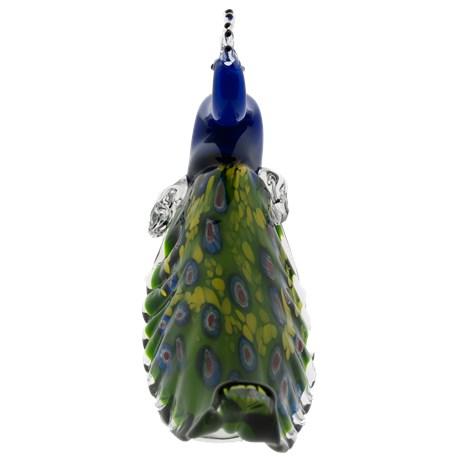 Glasskulptur Peacock