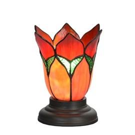 Niedrige Tiffany Tischlampe Lovely flower Red
